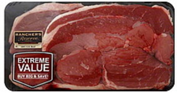 Ranchers Reserve Beef Round Steak Boneless, Extreme Value Pack