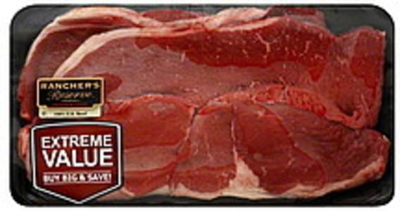 Ranchers Reserve Beef Round Steak Boneless, Extreme Value Pack