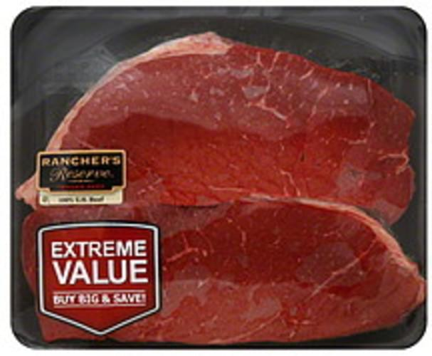 Ranchers Reserve Round Top Round Steak, Extreme Value Pack Beef - 1 ea