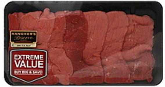 Ranchers Reserve Beef Round Top Round Steak, Thin, Extreme Value Pack