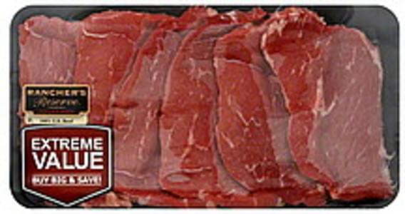 Ranchers Reserve Beef Round Steak Bottom, Thin, Extreme Value Pack