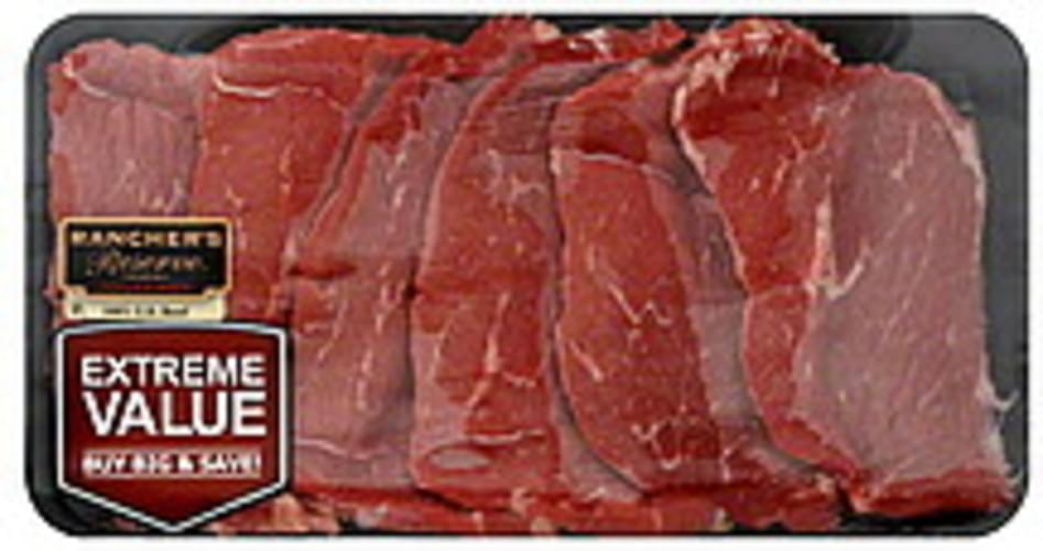 Ranchers Reserve Bottom, Thin, Extreme Value Pack Beef Round Steak - 1 ea