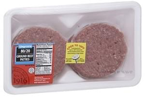 USDA Ground Beef Patties 80/20 Ground Beef Patties
