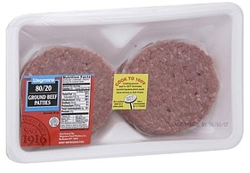 USDA 80/20 Ground Beef Patties Ground Beef Patties - 0