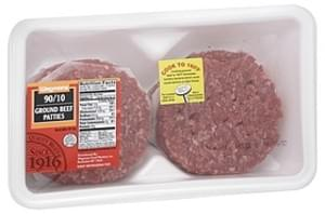 Wegmans Ground Beef Patties Ground Beef Patties, 90/10