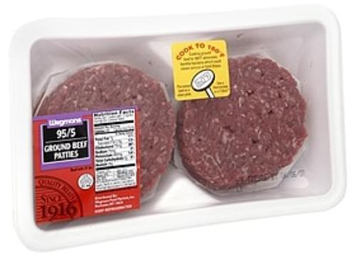 Wegmans Ground Beef Patties, 95/5 Ground Beef Patties - 1 lb