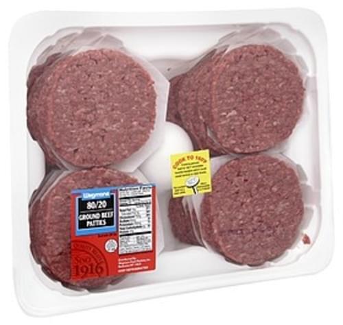 Wegmans 80/20 Ground Beef Patties, FAMILY PACK Ground Beef Patties - 1 lb