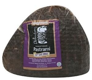 Wegmans Caramel Colored Pastrami, 97% Fat Free Pastrami