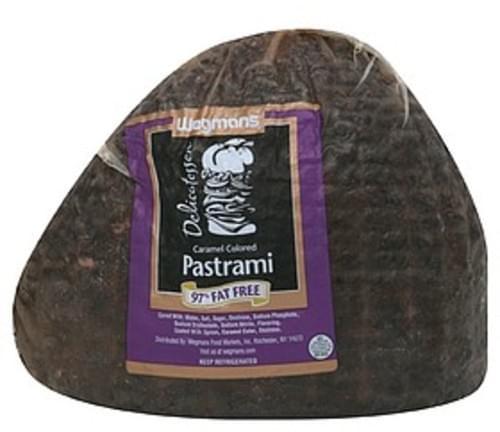 Wegmans Pastrami Caramel Colored Pastrami, 97% Fat Free - 1 lb
