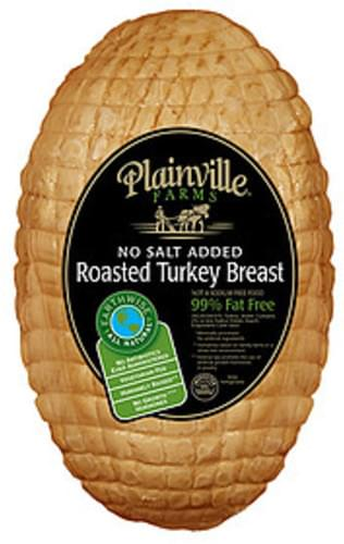 Plainville Farms No Salt Added Turkey Breast Poultry - 1 lb