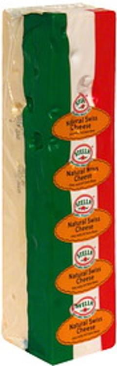 Stella Sliced Cheese Natural Swiss
