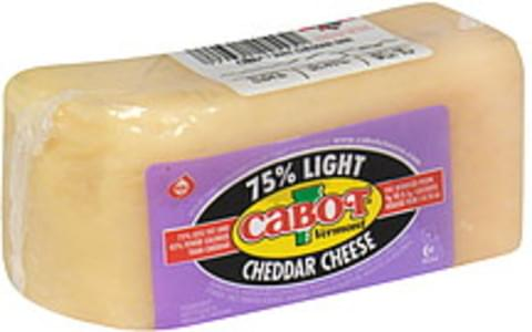 Cabot Vermont Cheese Cheddar, 75% Light