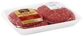 Market 32 Ground Beef Patties 93%/7%