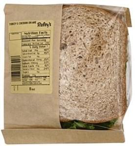 Raleys Turkey & Cheddar on Wheat