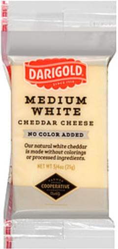 Darigold Snack Cheese Medium White Cheddar No Color Added