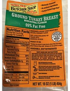Trader Joe's Butcher Shop Ground Turkey Breast