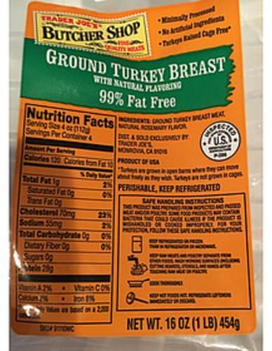 Trader Joe's Butcher Shop Ground Turkey Breast - 112 g