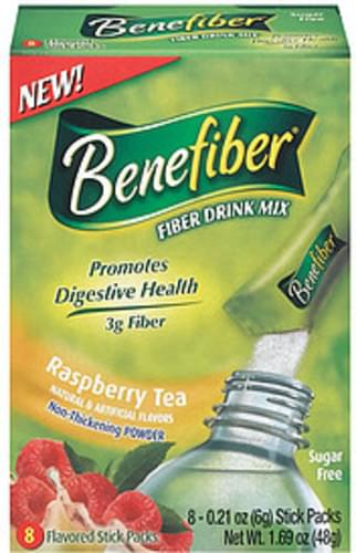 Benefiber Raspberry Tea Sugar Free 8 Ct
