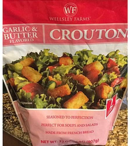 Wellsley Farms Garlic & Butter Flavored Croutons - 7 g