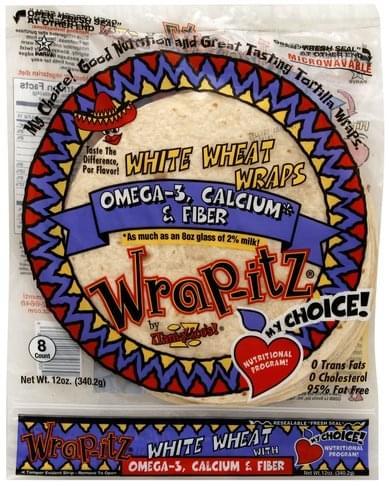 Wrap Itz White Wheat Wraps - 8 ea