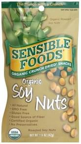 Sensible Foods Organic Crunch Dried Snacks Organic Soy Nuts, Roasted