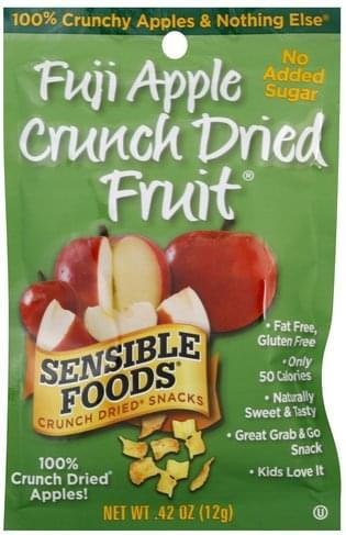 Sensible Foods Fruit, Fuji Apple Crunch Dried Snacks - 0.42 oz