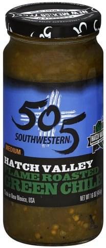 505 Southwestern Medium, Flame Roasted Green Chile - 16 oz