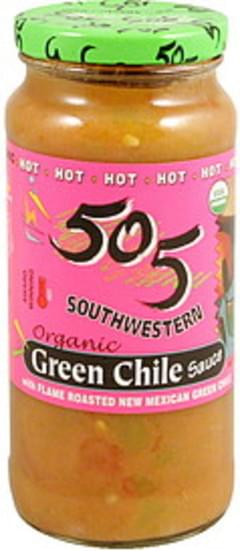 505 Southwestern Green Chile Sauce Organic, Hot