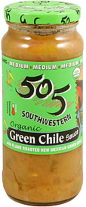 505 Southwestern Organic, Medium Green Chile Sauce - 16 oz
