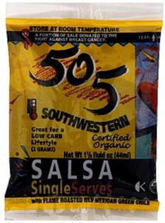 505 Southwestern Salsa Organic, Single Serves, Medium