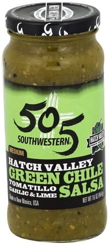 505 Southwestern Hatch Valley, Green Chile, Medium Salsa - 16 oz
