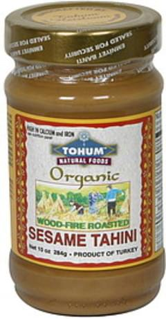 Tohum Natural Foods Sesame Tahini Wood Fire Roasted
