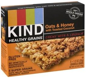 Kind Granola Bars Oats & Honey, with Toasted Coconut