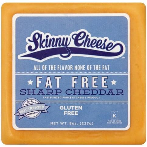 Skinny Cheese Fat Free, Sharp Cheddar Cheese - 8 oz