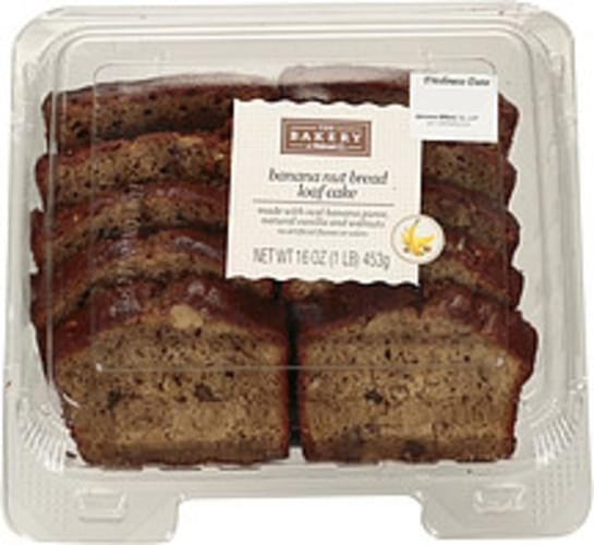 The Bakery At Walmart Banana Nut Bread Loaf Cake - 16 oz, Nutrition