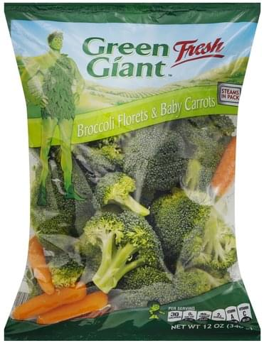Green Giant Broccoli Florets & Baby Carrots - 12 oz