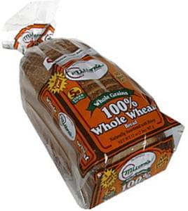 Miltons 100% Whole Wheat Bread Whole Grains
