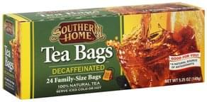 Southern Home Tea Bags Decaffeinated, Family Size