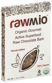 RawMio Chocolate Bark Gourmet Raw, Organic, Active Superfood, 70% Cacao