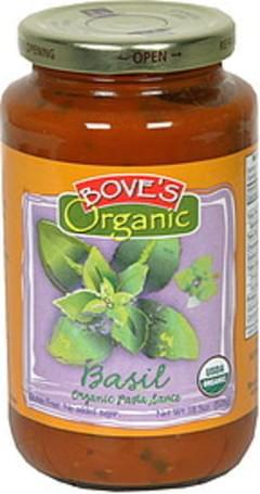 Boves Organic Pasta Sauce Basil