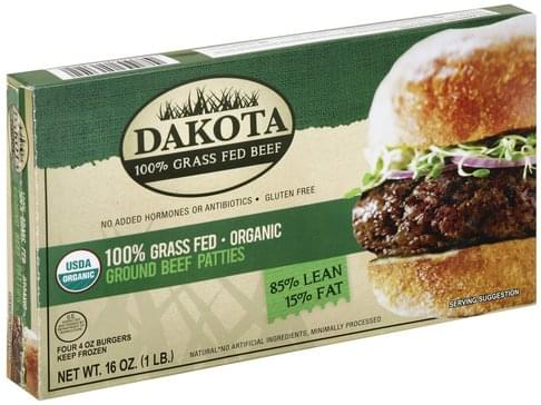 Dakota Organic, Ground Beef Patties - 4 ea