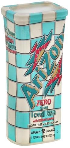 Lemon Flavor, Zero Calorie Iced Tea Mix