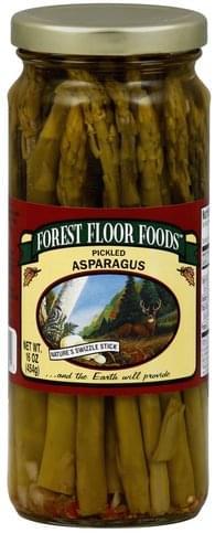 Forest Floor Foods Pickled Asparagus 16 Oz Nutrition