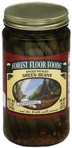 Forest Floor Foods Spiced Pickled Green Beans 12 Oz