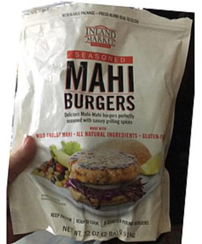 Inland Market Seasoned Mahi Burgers - 113 g
