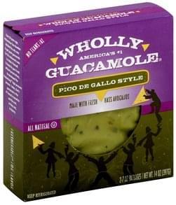 Wholly Guacamole Pico De Gallo Style, All Natural