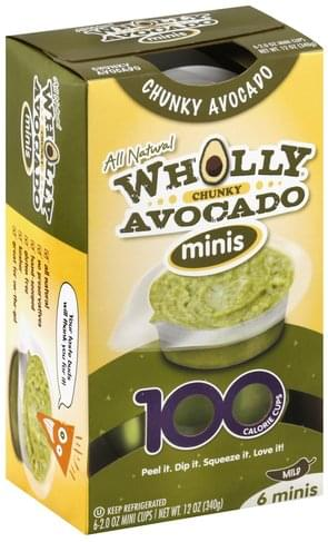 Wholly Mild, Chunky, Minis Avocado - 6 ea