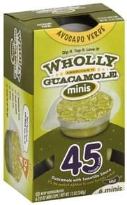 Wholly Guacamole Avocado Verde, Mild, Minis