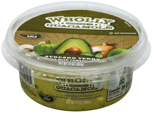 Wholly Avocado Verde, Mild Guacamole - 10 oz