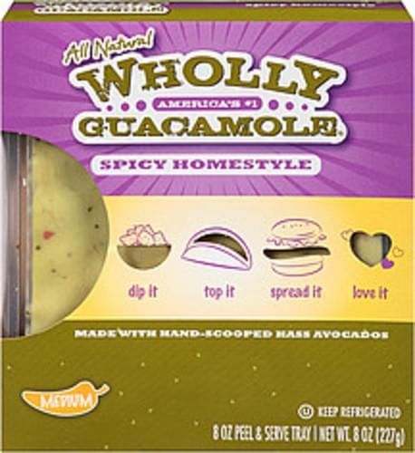 Wholly Guacamole Spicy Homestyle Guacamole - 8 oz